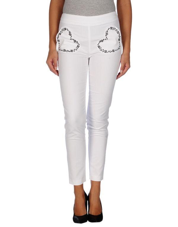 白色 LOVE MOSCHINO 裤装
