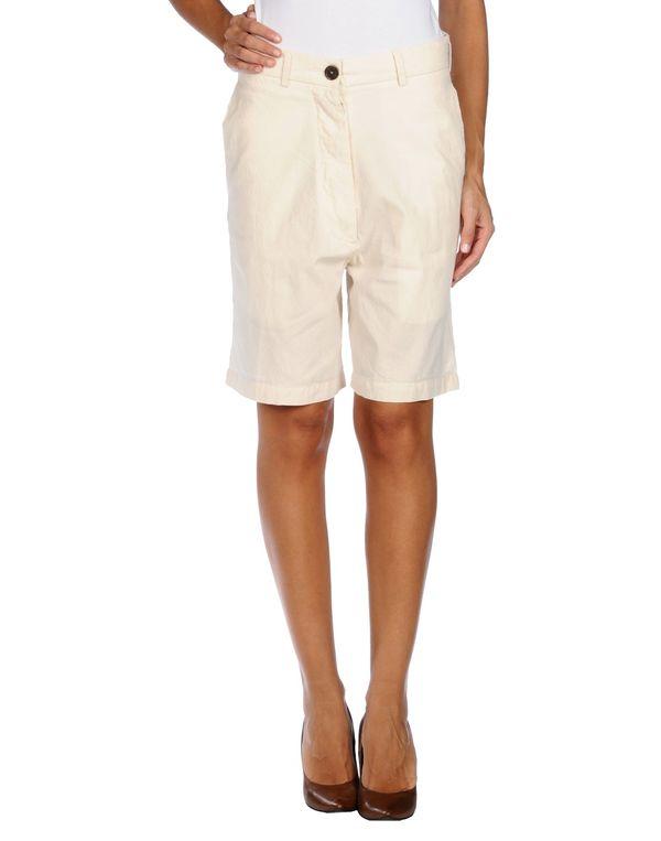 象牙白 SEMI-COUTURE 百慕达短裤