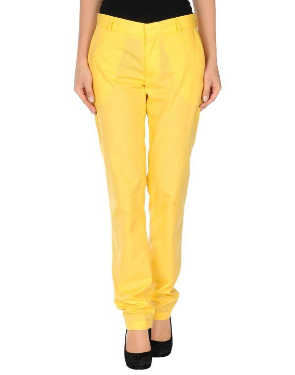黄色 D.A. DANIELE ALESSANDRINI 裤装