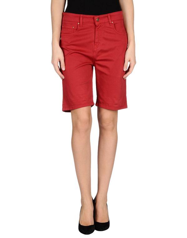 红色 DANIELE ALESSANDRINI DENIM 百慕达短裤