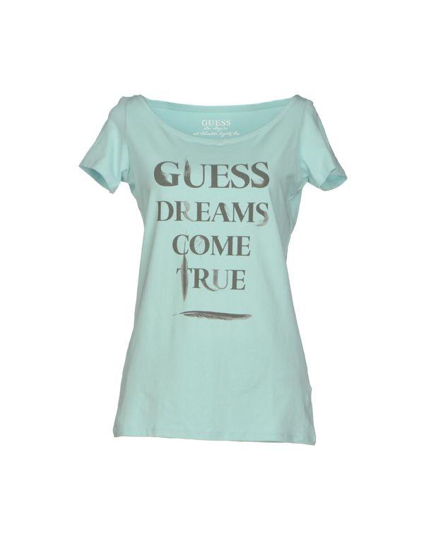 浅绿色 GUESS T-shirt
