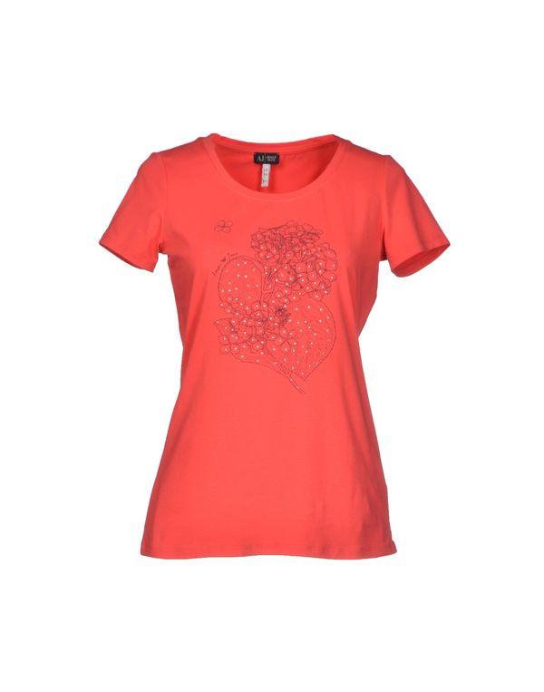 石榴红 ARMANI JEANS T-shirt