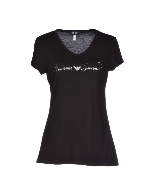 黑色 ARMANI JEANS T-shirt