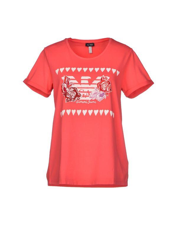 珊瑚红 ARMANI JEANS T-shirt