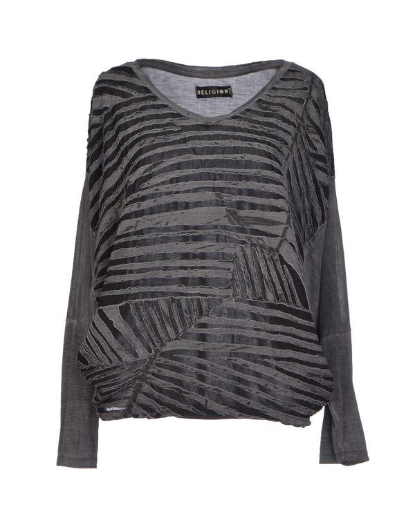 灰色 RELIGION T-shirt