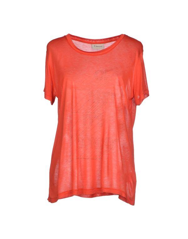 铁锈红 GANNI T-shirt
