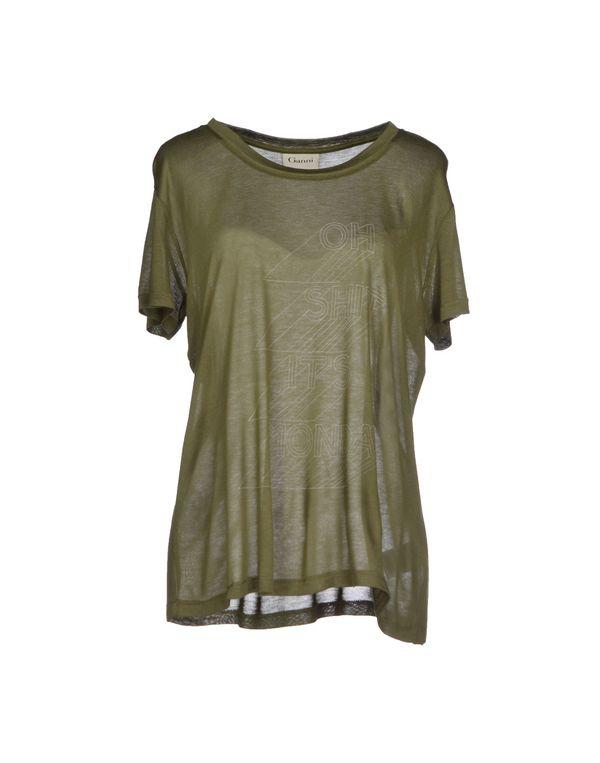 军绿色 GANNI T-shirt