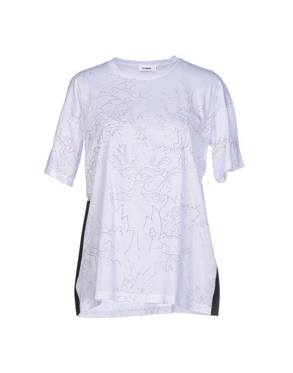 白色 JIL SANDER T-shirt