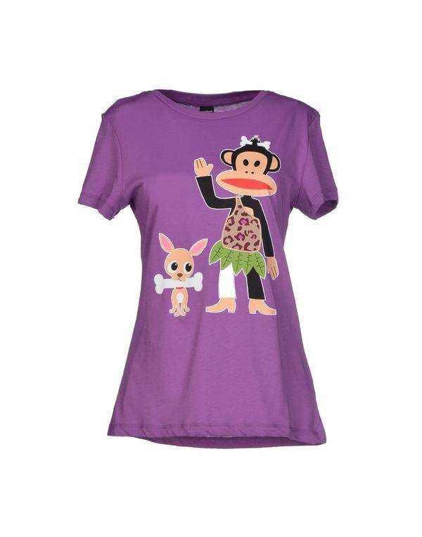 紫色 PAUL FRANK T-shirt