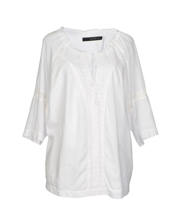 白色 CALVIN KLEIN JEANS 女士衬衫