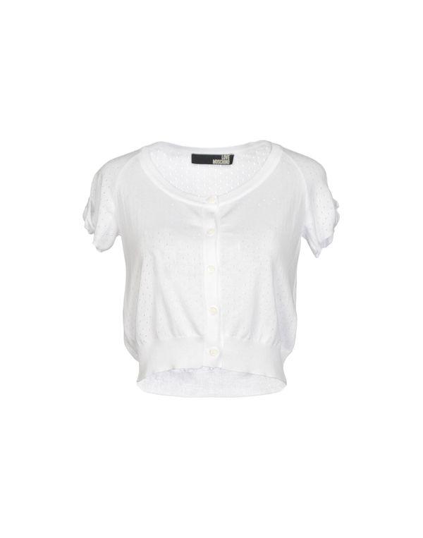 白色 LOVE MOSCHINO 针织开衫