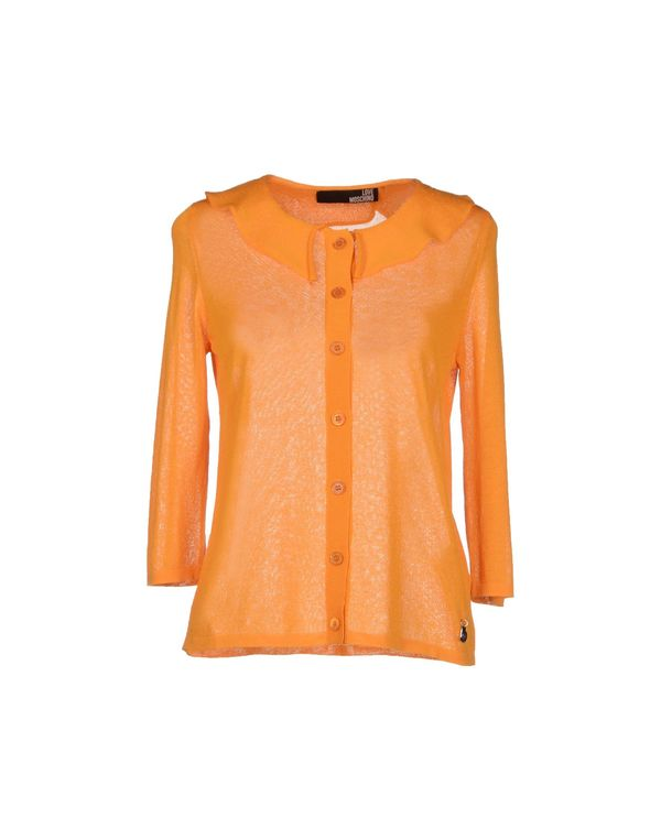 橙色 LOVE MOSCHINO 针织开衫