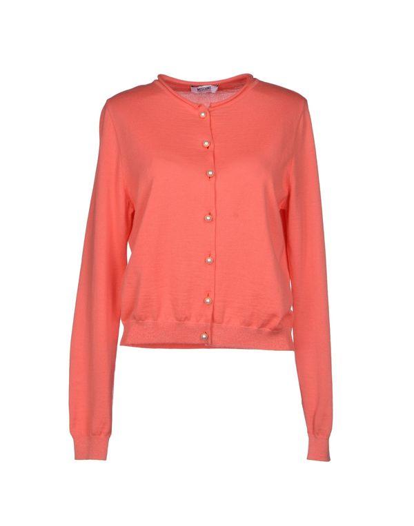 珊瑚红 MOSCHINO CHEAPANDCHIC 针织开衫