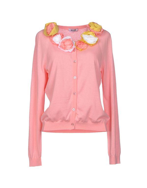 粉红色 MOSCHINO CHEAPANDCHIC 针织开衫