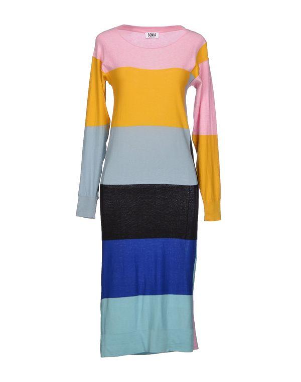 粉红色 SONIA BY SONIA RYKIEL 及膝连衣裙