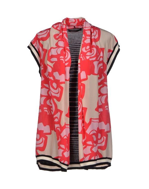 珊瑚红 PIANURASTUDIO 针织开衫