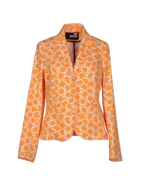橙色 LOVE MOSCHINO 西装上衣