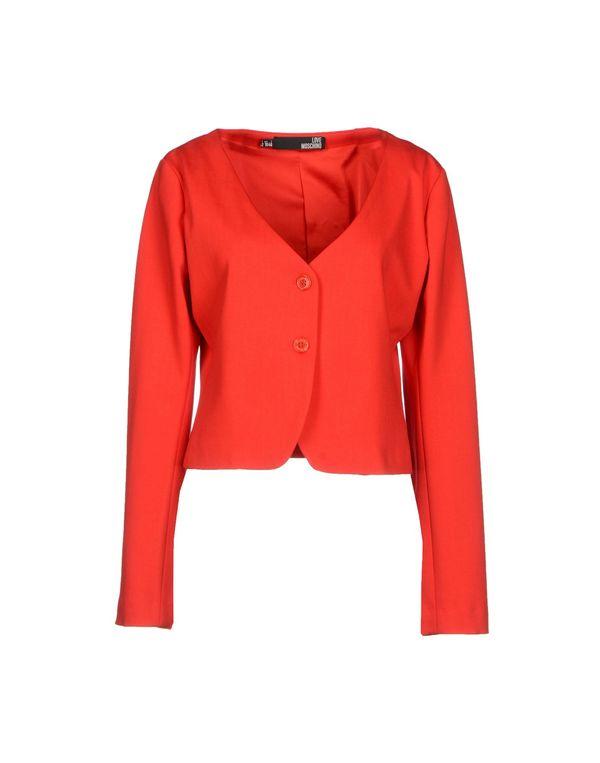 红色 LOVE MOSCHINO 西装上衣
