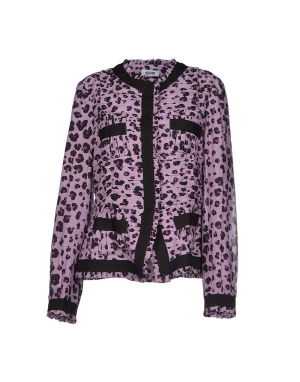 丁香紫 MOSCHINO CHEAPANDCHIC 夹克