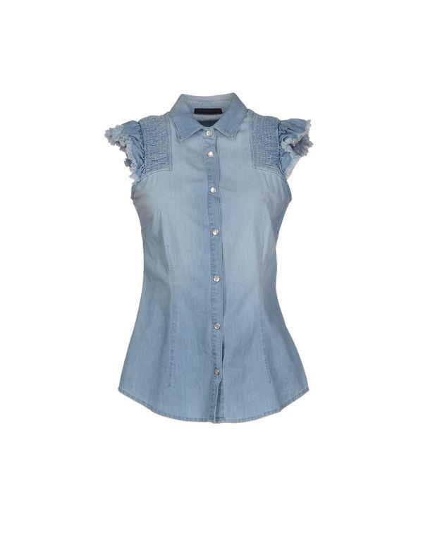 蓝色 PINKO BLACK 牛仔衬衫
