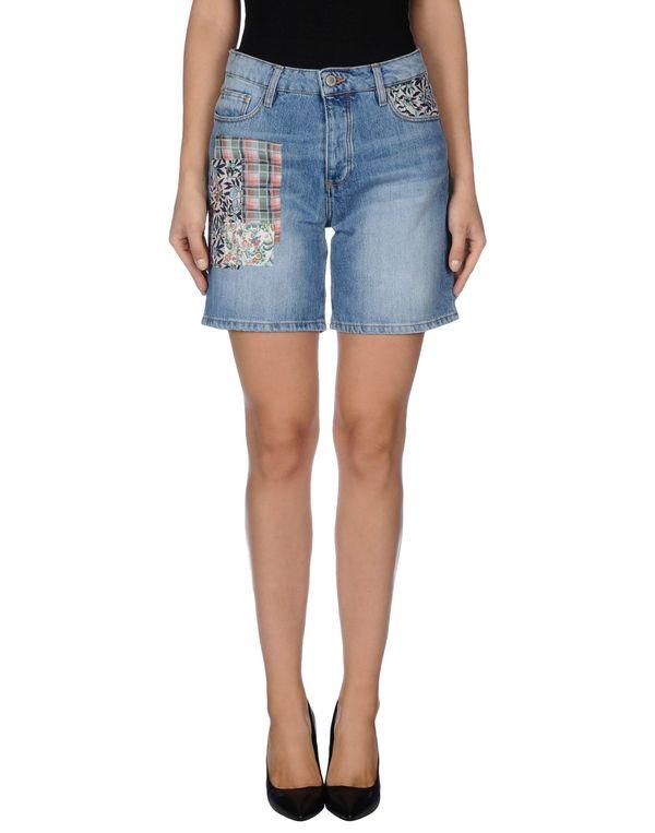 蓝色 PAUL & JOE 百慕大牛仔短裤