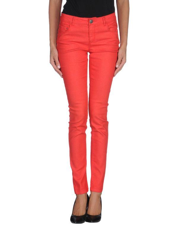 红色 ONLY 牛仔裤