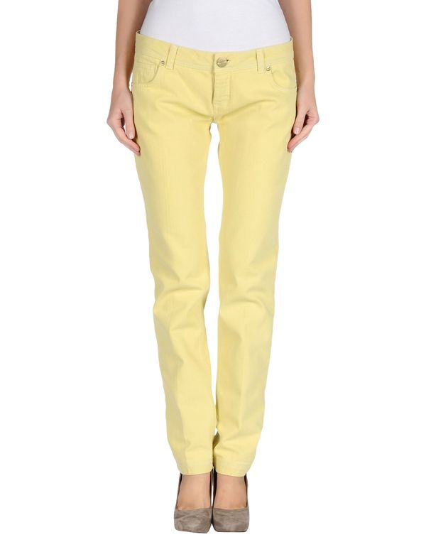 黄色 PINKO 牛仔裤