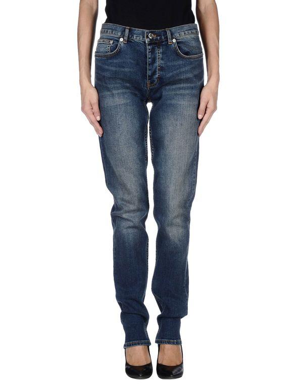 蓝色 BLK DNM 牛仔裤