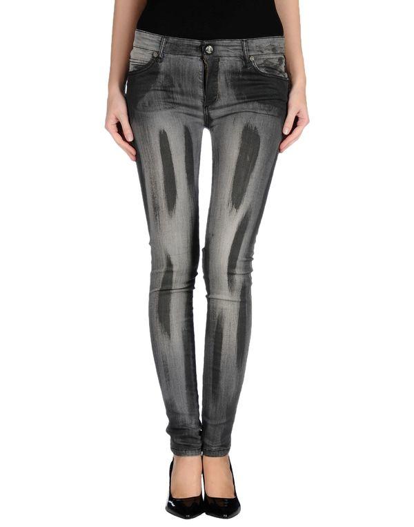 黑色 PLEIN SUD 牛仔裤