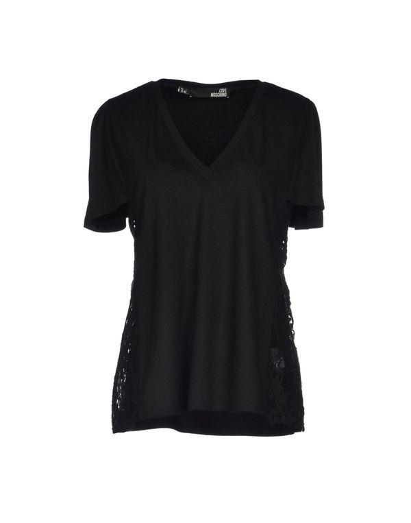 黑色 LOVE MOSCHINO T-shirt