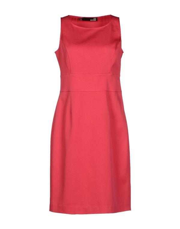 玫红色 LOVE MOSCHINO 短款连衣裙