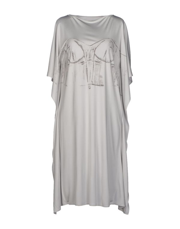 淡灰色 MAISON MARTIN MARGIELA 1 及膝连衣裙