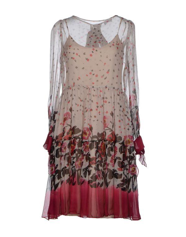 淡灰色 REDVALENTINO 短款连衣裙