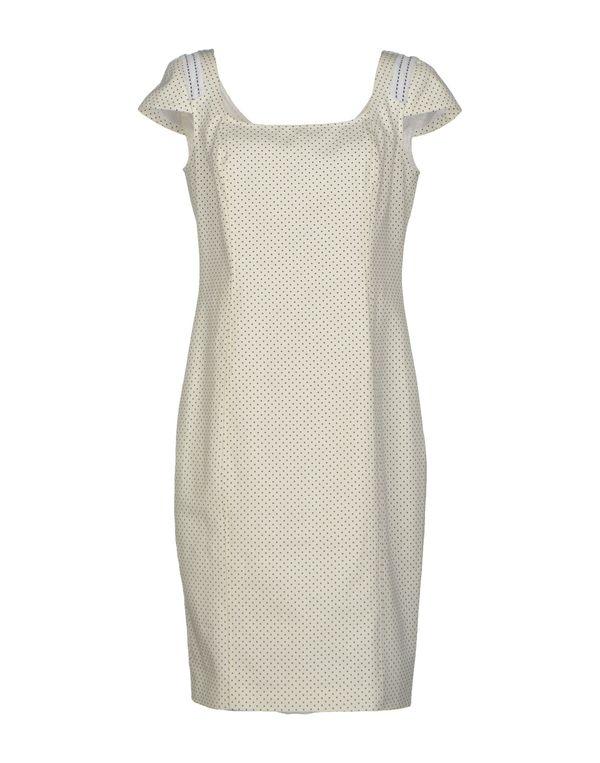 白色 VERSACE 及膝连衣裙