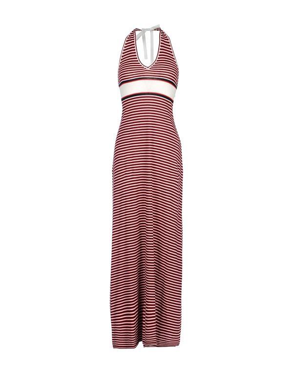 红色 D&G 长款连衣裙