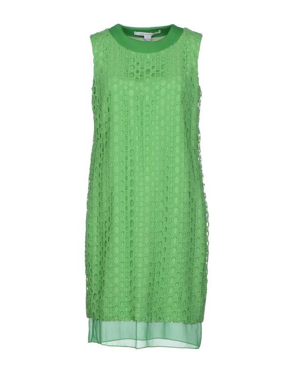 浅绿色 DIANE VON FURSTENBERG 短款连衣裙