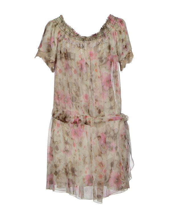 粉红色 SCERVINO STREET 短款连衣裙
