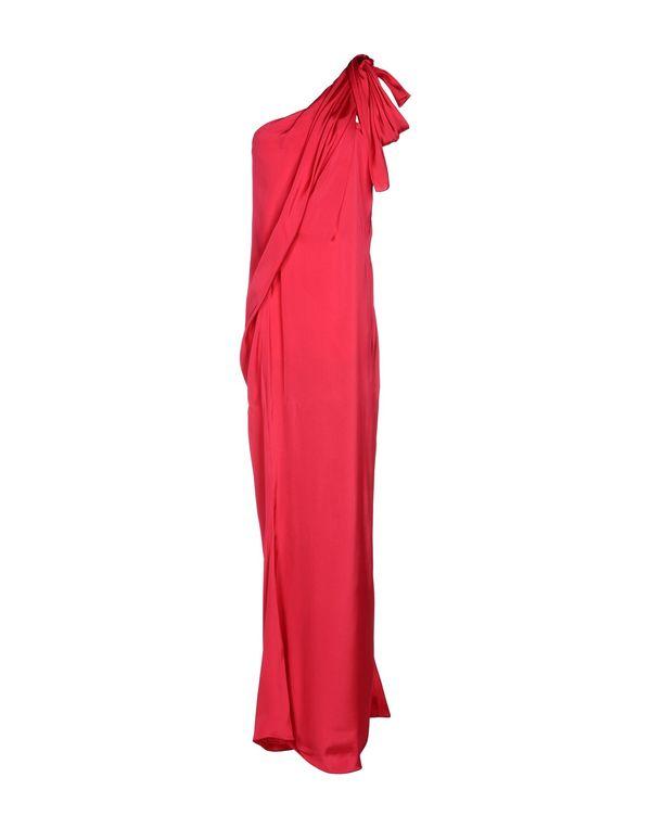 石榴红 LANVIN 长款连衣裙