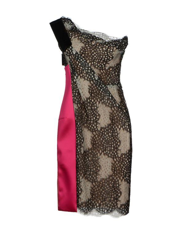 玫红色 ROLAND MOURET 短款连衣裙