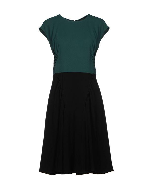 孔雀绿 PRADA 短款连衣裙