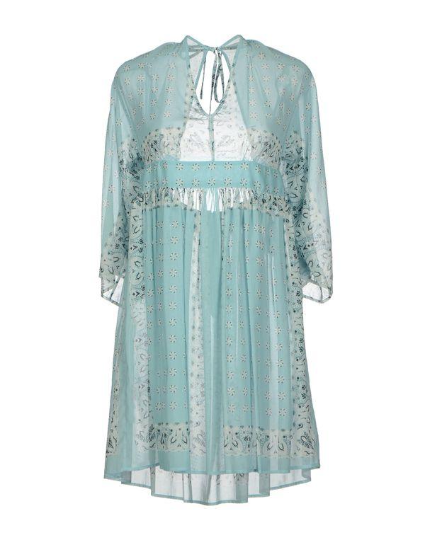 天蓝 D&G 短款连衣裙
