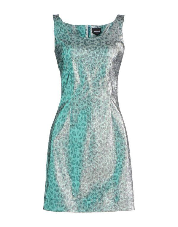 绿色 JUST CAVALLI 短款连衣裙
