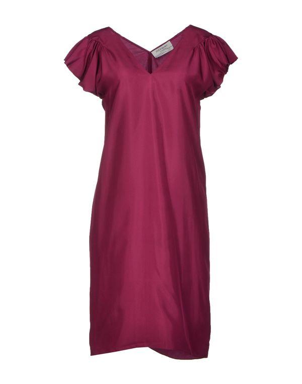 石榴红 YVES SAINT LAURENT 短款连衣裙
