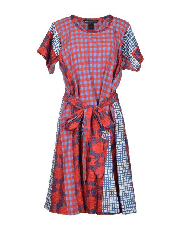 红色 MARC BY MARC JACOBS 及膝连衣裙