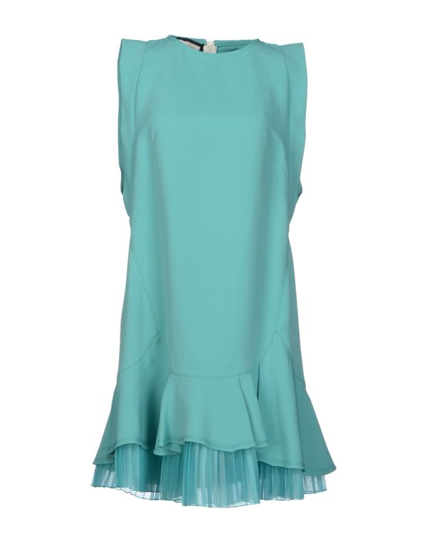 蓝绿色 AQUILANO-RIMONDI 短款连衣裙