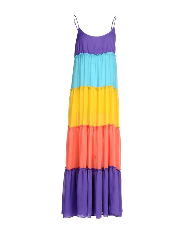 紫色 LOVE MOSCHINO 长款连衣裙
