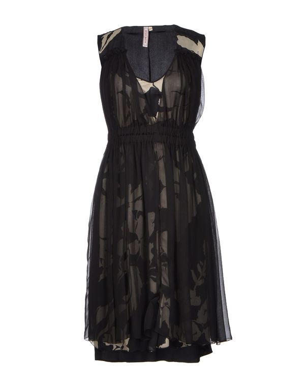黑色 ANTONIO MARRAS 及膝连衣裙
