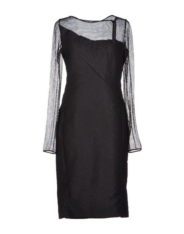 黑色 ROLAND MOURET 及膝连衣裙