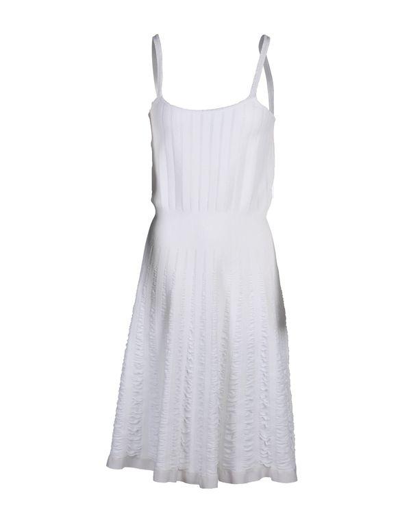 白色 BLUMARINE 及膝连衣裙