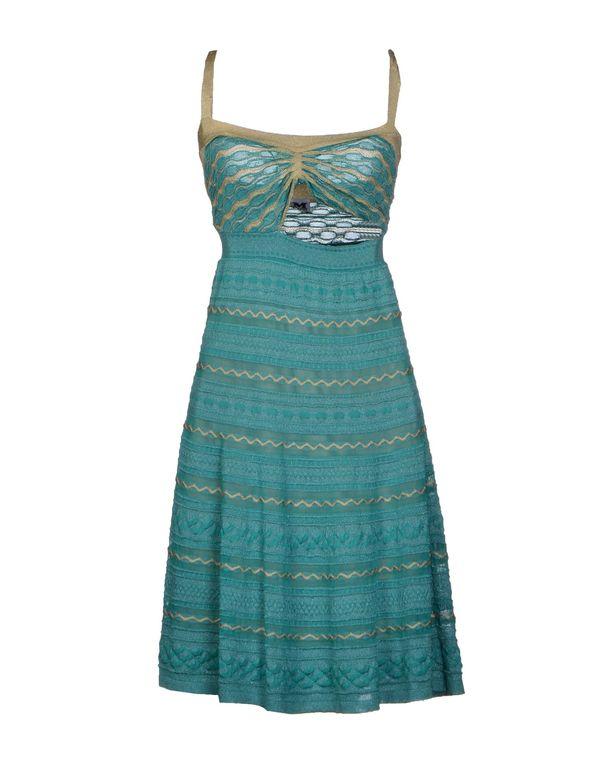 绿色 M MISSONI 及膝连衣裙